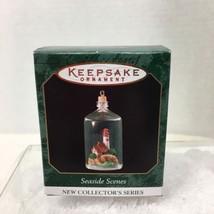 1999 Seaside Scenes #1 Mini Hallmark Christmas Tree Ornament MIB w Price... - $12.38