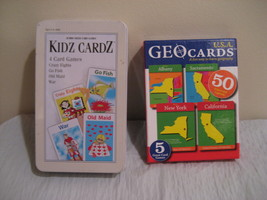 KIDZ CARDZ and USA GEO CARDS both card and learning games new condition - $14.99