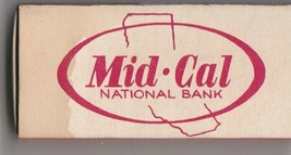 Vtg Strike on Match Box with local ad & sticks ~ Mid-Cal National Bank S... - $9.89