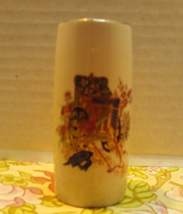 Vintage Small Bud Vase / Asian Design / Made in Japan // Gold Trim // Ho... - $6.00