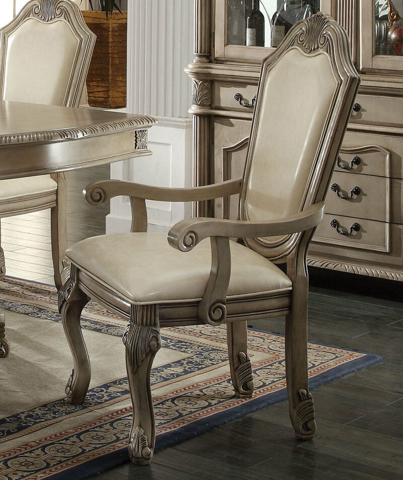 Old World Antique White 7pcs Dining Room Set NEW