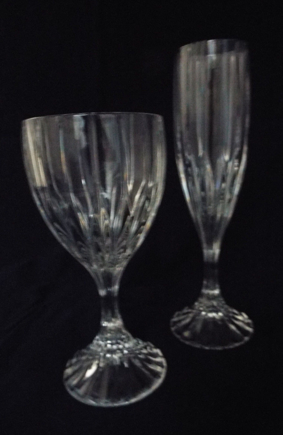 Primary image for Mikasa Park Lane Crystal Stemware Water Goblet and Fluted Champagne Set LAST ONE