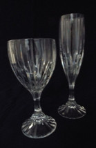 Mikasa Park Lane Crystal Stemware Water Goblet and Fluted Champagne Set LAST ONE - $47.99