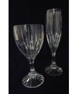 Mikasa Park Lane Crystal Stemware Water Goblet and Fluted Champagne Set ... - $47.99
