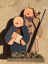 Christmas Primitive Mary Joseph and Baby Jesus  - $15.95