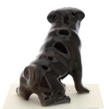 Hagen-Renaker Miniature Ceramic Dog Figurine Pug Black Mama Sitting and Baby Pup image 11