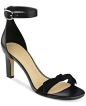 Marc Fisher Dalli Womens Two-Piece Sandals Black Leather 8.5M New In Box *B - $19.80