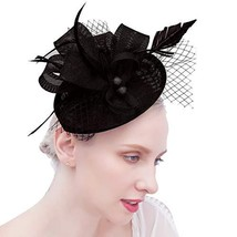 Felizhouse Fascinator Hats Women Ladies Feather Cocktail Party Hats Brid... - $17.58