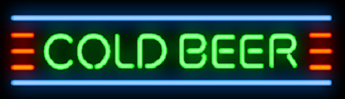 """New Cold Beer Bar Pub Neon Sign 24""""x6"""""""