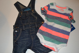 Infant   Genuine Kids Osh Kosh Jean Overall and Stripped Tee   SIZE 3M NWT - $14.99
