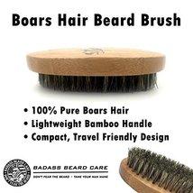Badass Beard Care Beard Brush for Men - 100% Pure Boars Hair Bristles, Lightweig image 4