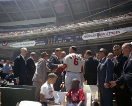 President John F. Kennedy with Stan Musial at MLB All-Star Game 1962 Pho... - $11.02+