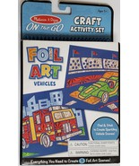 Melissa & Doug On The Go Craft Activity Set: 5 Foil Art Vehicles, New - $6.95