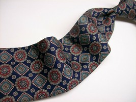BURBERRYS of LONDON  Handmade  Blue Multi EMLEMS    100 Silk  Necktie  6... - $24.99