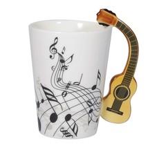 I-MART Musical Notes Design Ceramic Drink Tea Coffee Mug Cup Acoustic Gu... - $19.48
