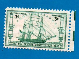 Scott   #951 United States 3 cent Frigate Constitution Stamp (1947)   - $2.99