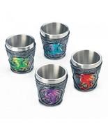 MYTHICAL DRAGONS SHOT GLASS SET OF 4 NEW! - $25.64