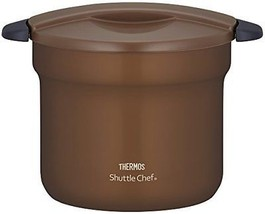 THERMOS Vacuum Thermal Insulation Cooker Shuttle Chef 4.3L Mocha KBF-4501 - $176.72