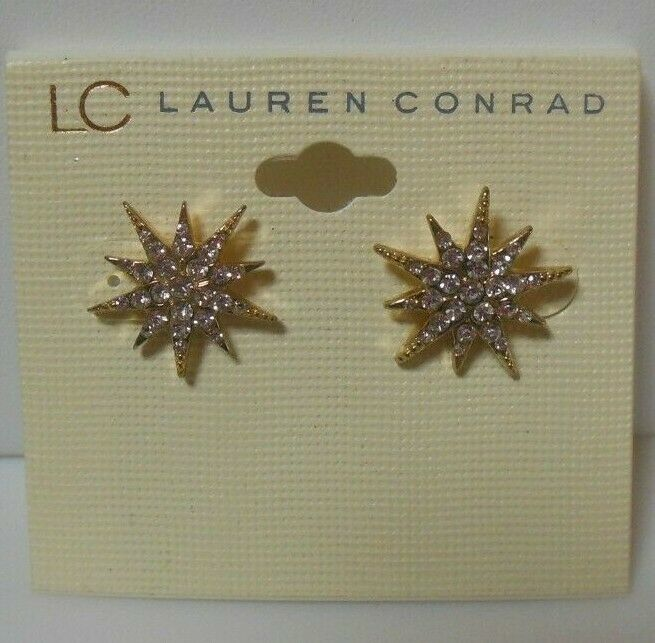 Primary image for LC Lauren Conrad Gold-tone Clear Rhinestone Star Pierced Earrings