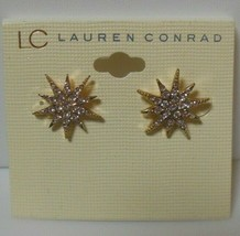 LC Lauren Conrad Gold-tone Clear Rhinestone Star Pierced Earrings - $11.99