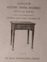 Singer 101-3 & 101-11 manual sewing machine instruction - $9.99