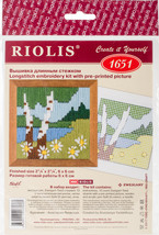 "RIOLIS Stamped Cross Stitch Kit 2.25""X2.25""-Forest Lake (13 Count) - $8.39"