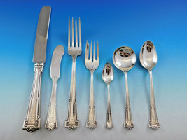 Dauphine by Wallace Sterling Silver Flatware Set 12 Service 101 pc Dinner A mono - $5,995.00
