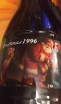 Vintage 1996 Christmas Coke Coca-Cola bottle Santa Claus - 2 Bottles 8 o... - $12.99
