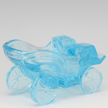 Vintage Novelty Glass LG Wright Blue Carriage Ashtray image 2