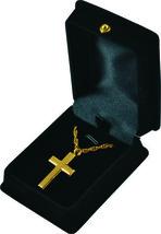 """Gold Cross Pendant w/20"""" chain & black velvet display box - $149.99"""