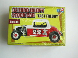 "SEALED IN BAGS 32 Ford Jalopy Stock Car ""Fast Freddy"" by AMT/Ertl #21709... - $29.69"
