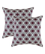TreeWool, (Pack of 2) Clover Accent Throw Pillow Covers in Soft Cotton F... - $15.99