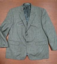 Oscar De La Renta Mens Retro Wool Gray Herringbone suit Blazer/sport Jac... - $64.35
