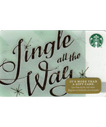 Starbucks 2014 Jingle All The Way Collectible Gift Card New Free Shipping - $4.99