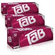 TAB SODA SOFT DRINK - 36 CANS TOTAL (12-oz) - Three Cases, 3 x 12-pack - $27.70