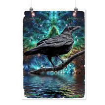 Surreal Galaxy Raven Star Crow Matte/Glossy Poster A0 A1 A2 A3 A4 | Well... - $7.99+
