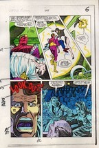 1984 Captain America 295 page 6 Marvel original color guide art: Baron Zemo/80's - $99.50