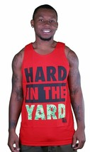 Yea Nice Men's Red Hard In The Yard Marijuana Logo Tank Top Muscle Shirt NWT