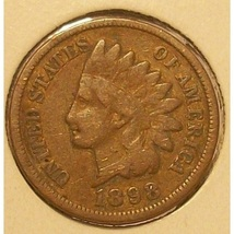 1898 Indian Head Cent Partial Liberty VG #0246 - $2.99
