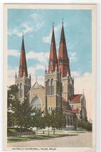 Catholic Cathedral Tulsa Oklahoma #1 1920s postcard - $5.45