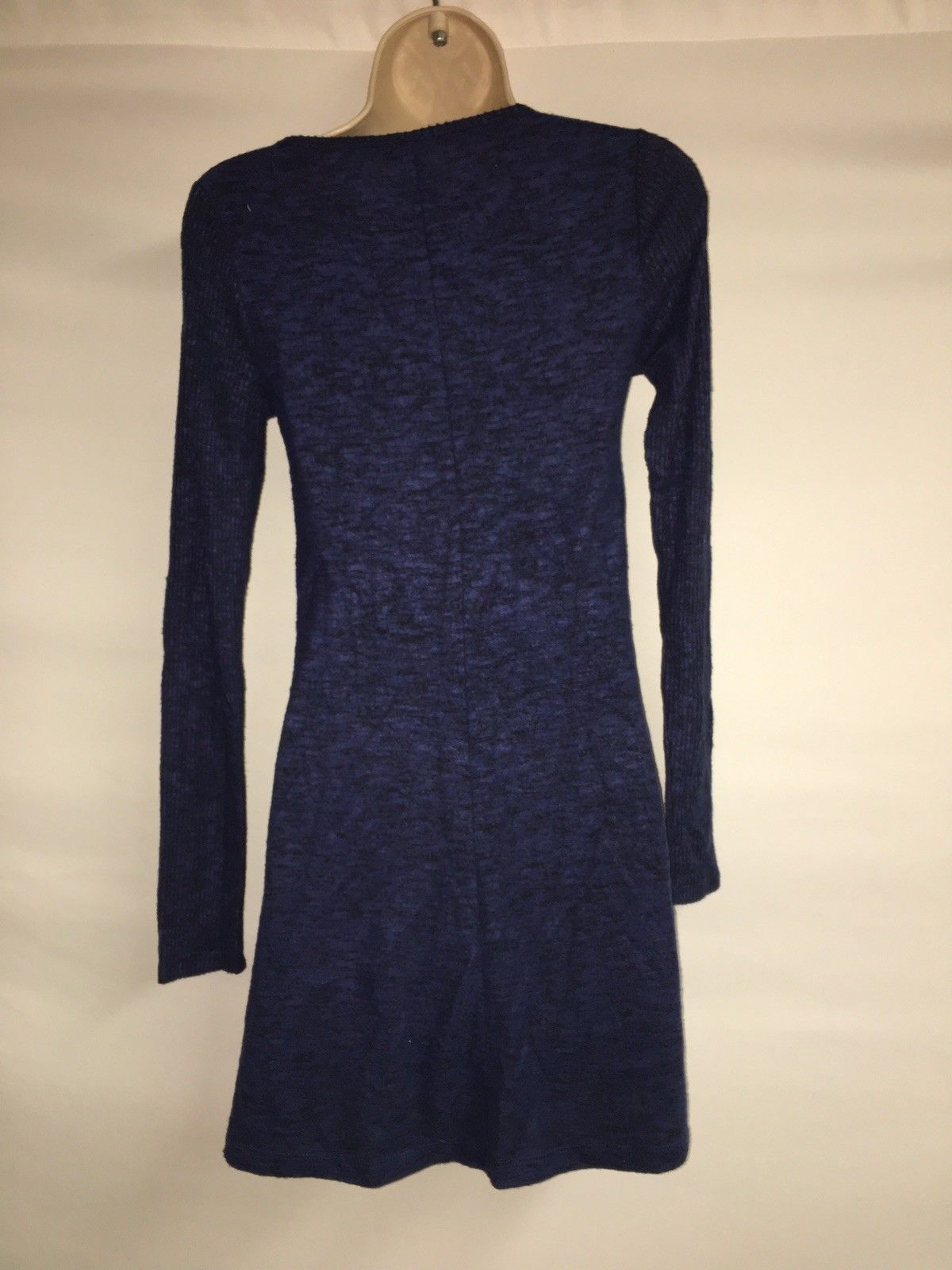 Express Dress Blue Multi Womens XS Long Sleeve NWT $59.9 image 5