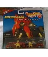 1996 Mattel Hot Wheels Diecast Firetrucks Action Pack Fire Fighting #161... - $12.38