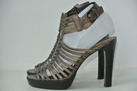 Stuart Weitzman Womens Sz 7.5 M Bronze Leather Gladiator Open Toe Heels NICE!! - $39.59