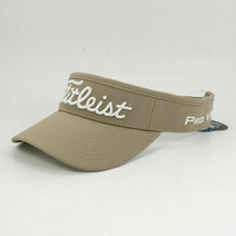 NEW!  TITLEIST 'PRO V1' 'FJ' Junior Performance Adjustable Visor-Beige/W... - $44.43