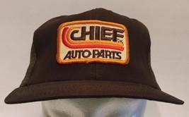 Vintage Chief Auto Parts Snapback Mesh Trucker Hat Cap USA Brown - $18.69