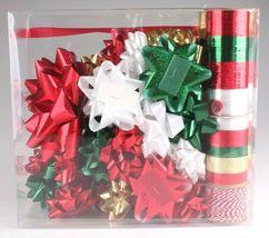 Wondershop Gold Red White Green 264 Ft Ribbon 33 Bows Gift Wrapping Kit Set NEW image 3