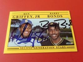 1991  KEN  GRIFFEY  JR  +  BARRY  BONDS  HAND SIGNED AUTOGRAPHED #710  F... - $349.99