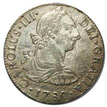 1780 México Colonial 2 Reales Mo. Pillars Silver Coin Lot# EA 194