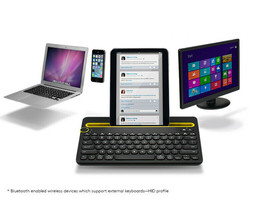 Logitech Bluetooth Multi-Device Keyboard K480 works/Windows,Mac Computer... - $32.71
