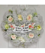 Bridal Wreath To Have And To Hold Deco Mesh Cherish Collection - $89.99
